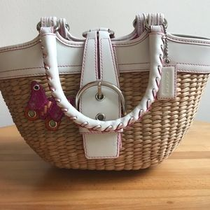 Vintage Coach Straw Bag
